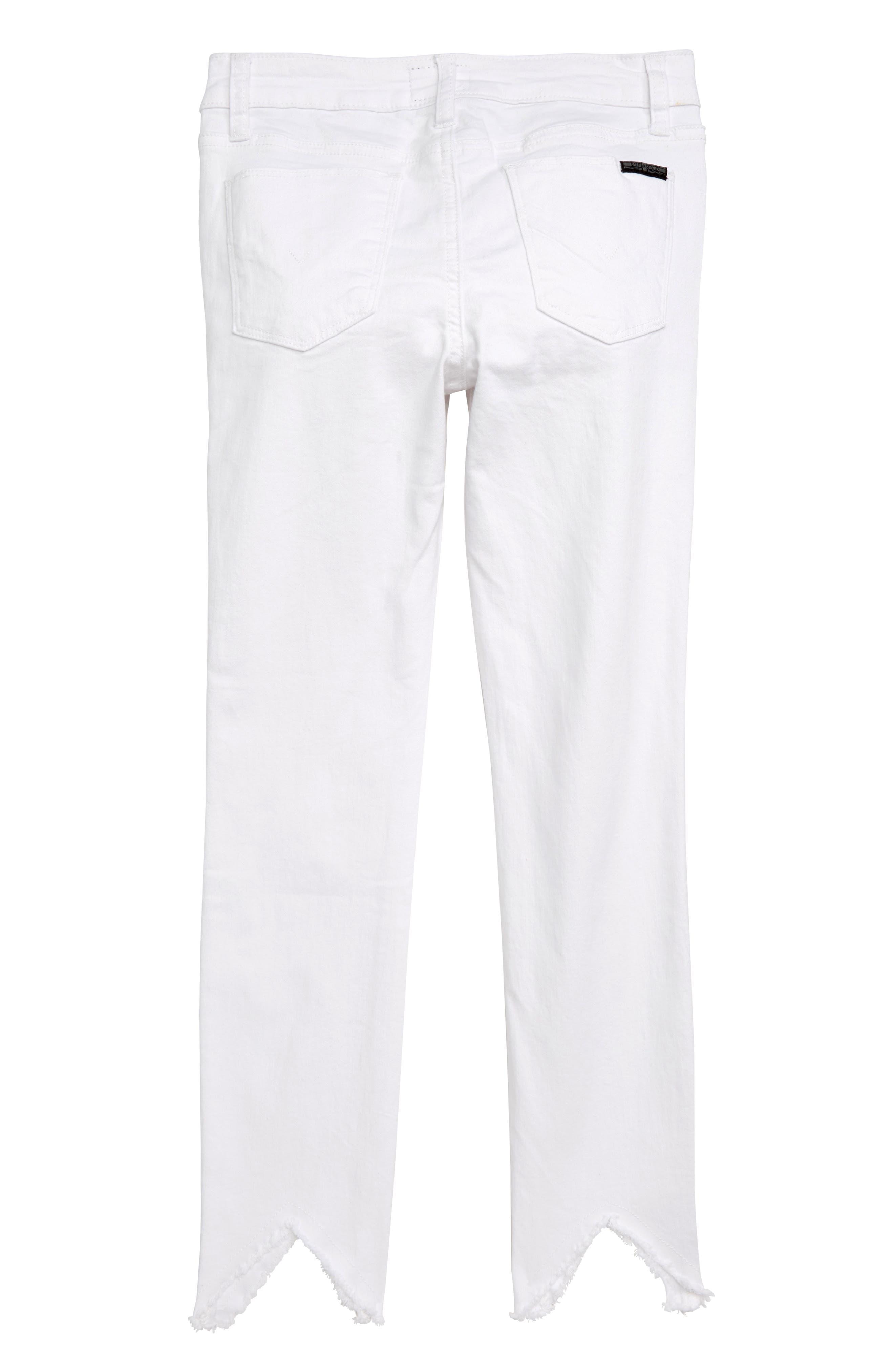,                             Hudson Girls 23 Notched Hem Skinny Jeans,                             Alternate thumbnail 2, color,                             VWW-VINTAGE WHITE WASH