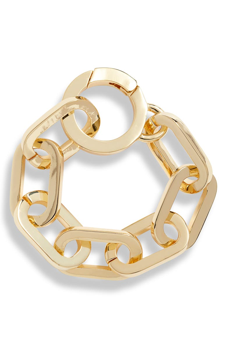 LISA FREEDE Dakota Link Bracelet, Main, color, YELLOW GOLD