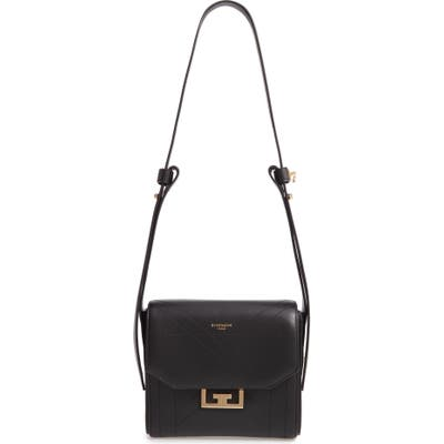 Givenchy Small Eden Stitched Lambskin Leather Shoulder Bag - Black