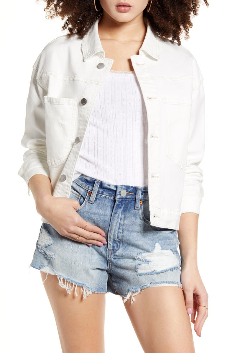 PTCL Boxy Crop Jacket, Main, color, WHITE