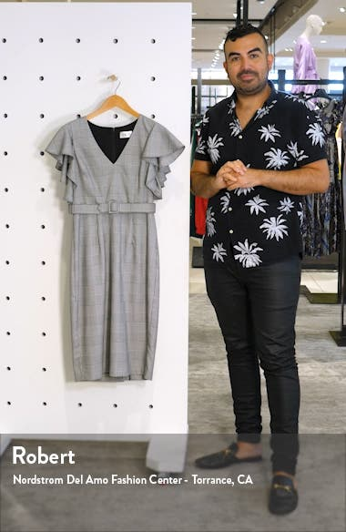 Flutter Sleeve Sheath Dress, sales video thumbnail