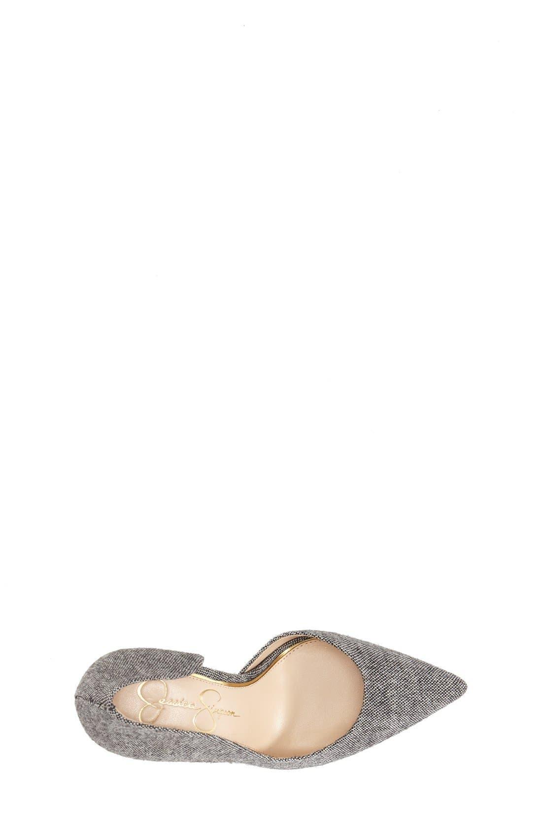 ,                             'Claudette' Half d'Orsay Pump,                             Alternate thumbnail 9, color,                             002