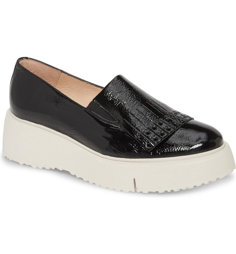 WONDERS A-9320 Loafer Wedge, Main, color, BLACK PATENT LEATHER