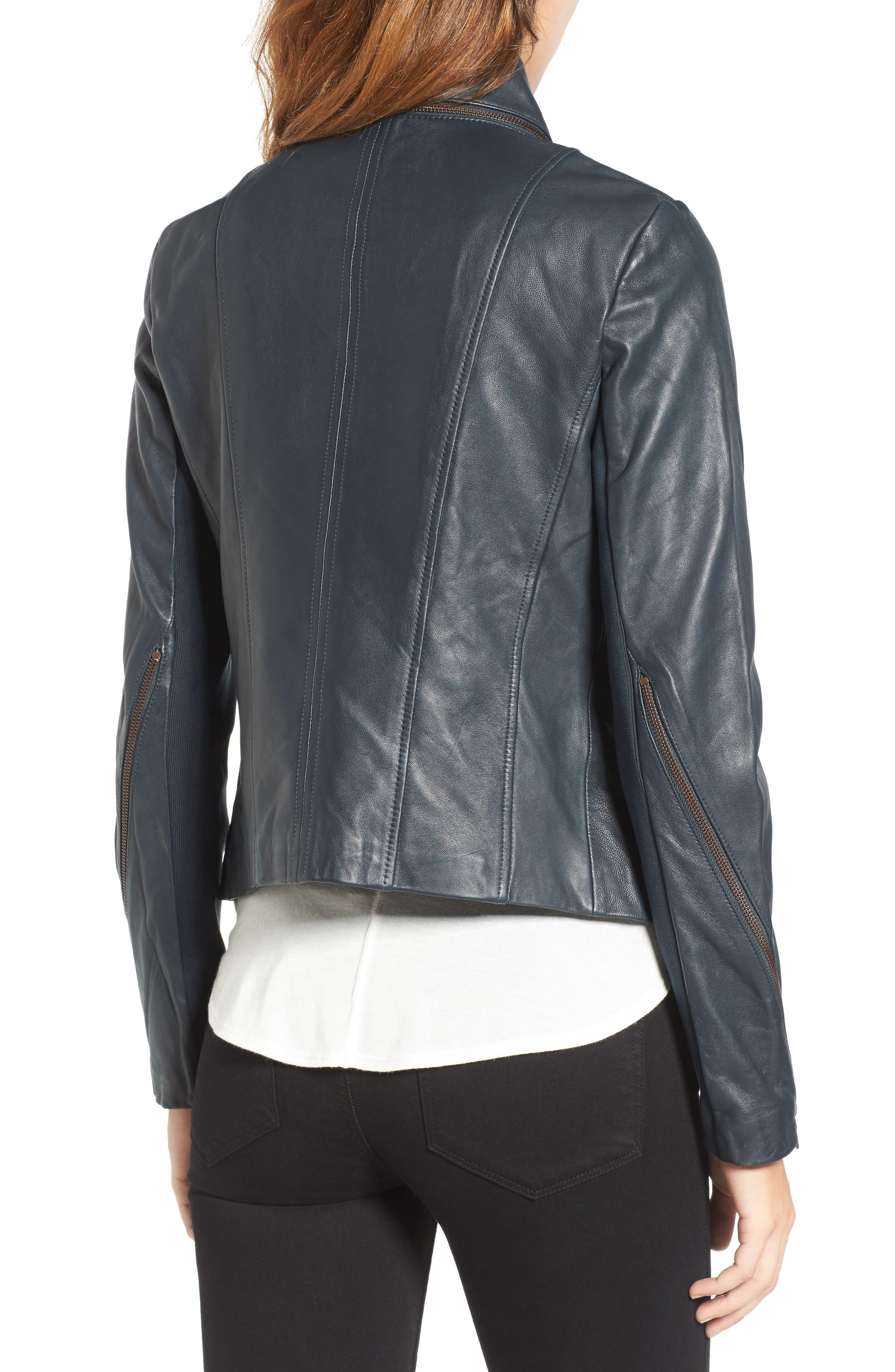 ,                             Zip Detail Moto Jacket,                             Alternate thumbnail 5, color,                             431
