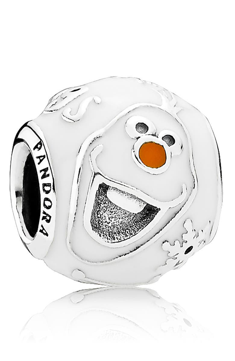 PANDORA Disney Olaf Charm, Main, color, SILVER