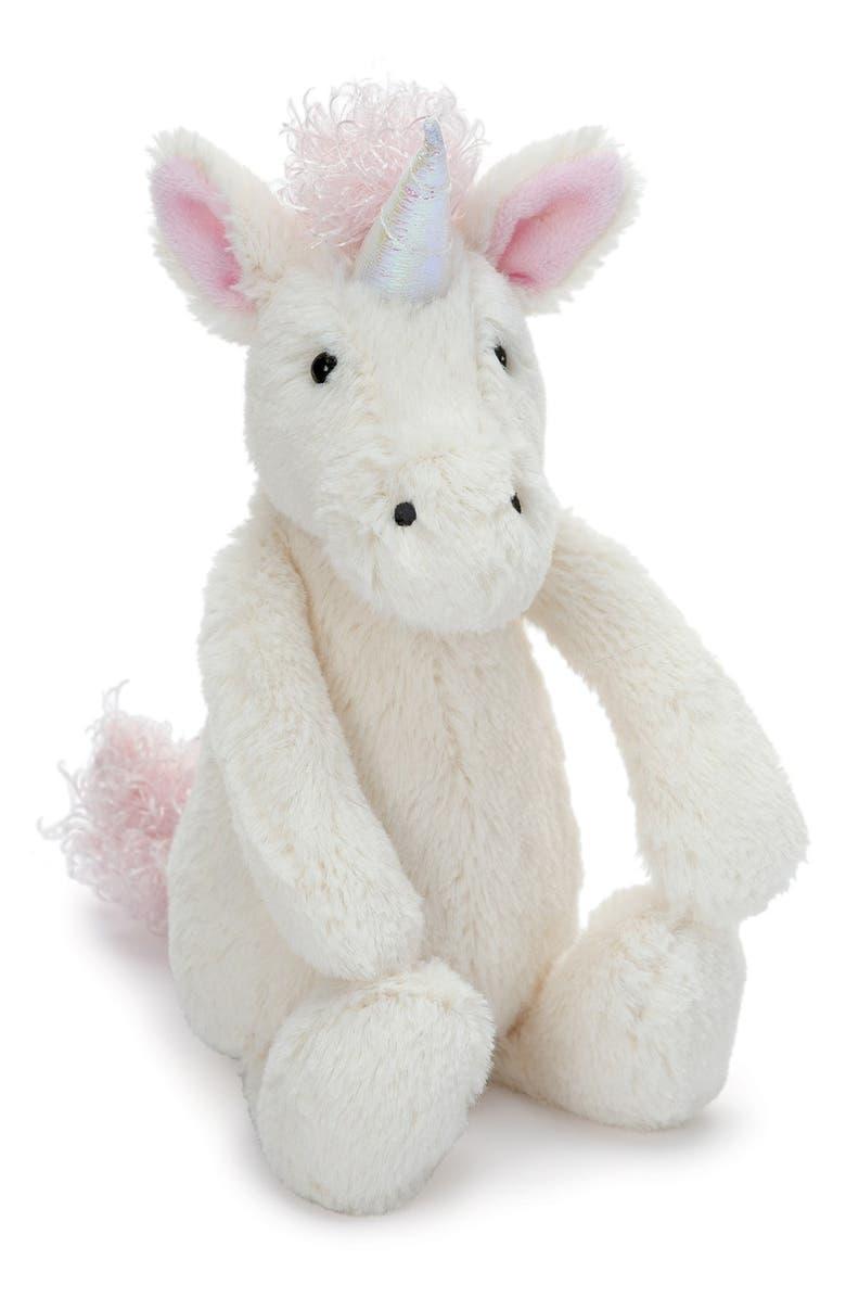 JELLYCAT 'Small Bashful Unicorn' Stuffed Animal, Main, color, CREAM