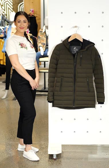 Rockcliff Quilted Down Coat, sales video thumbnail