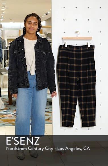 x Claudia Sulewski Plaid Menswear Crop Pants, sales video thumbnail