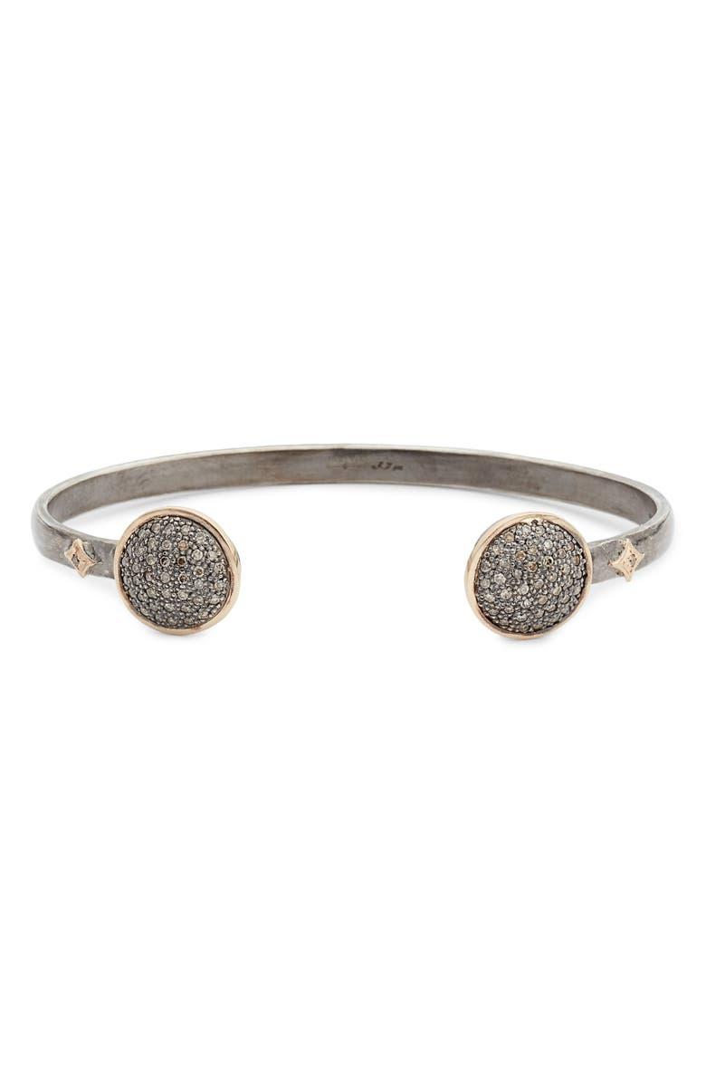ARMENTA New World Pavé Diamond Cuff Bracelet, Main, color, 040