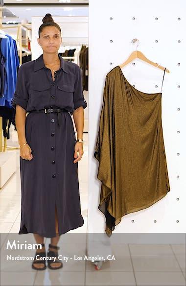 Metallic One-Shoulder Minidress, sales video thumbnail