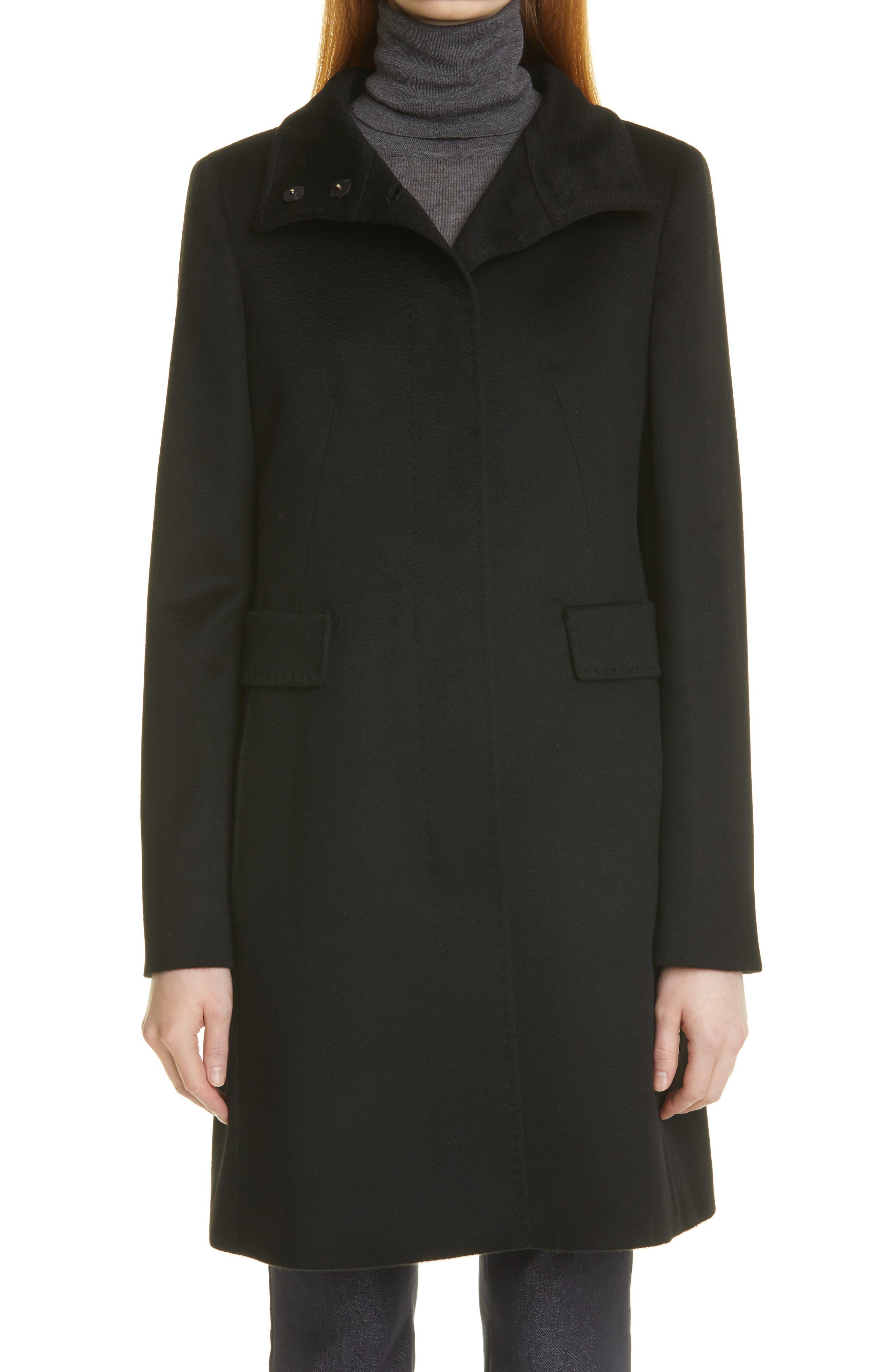Agnese Melange Wool Coat