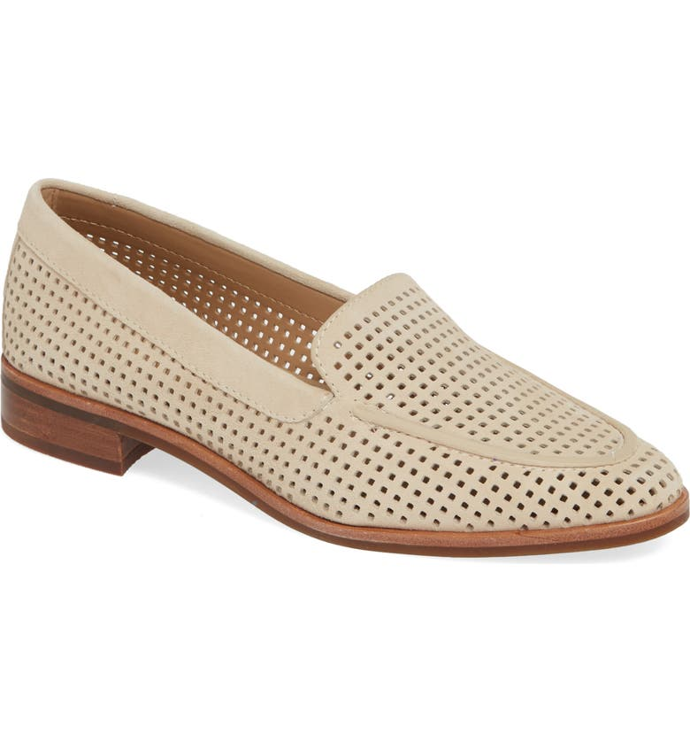 THE FLEXX Chelsea Peforated Loafer, Main, color, OATMEAL PERFORATED SUEDE