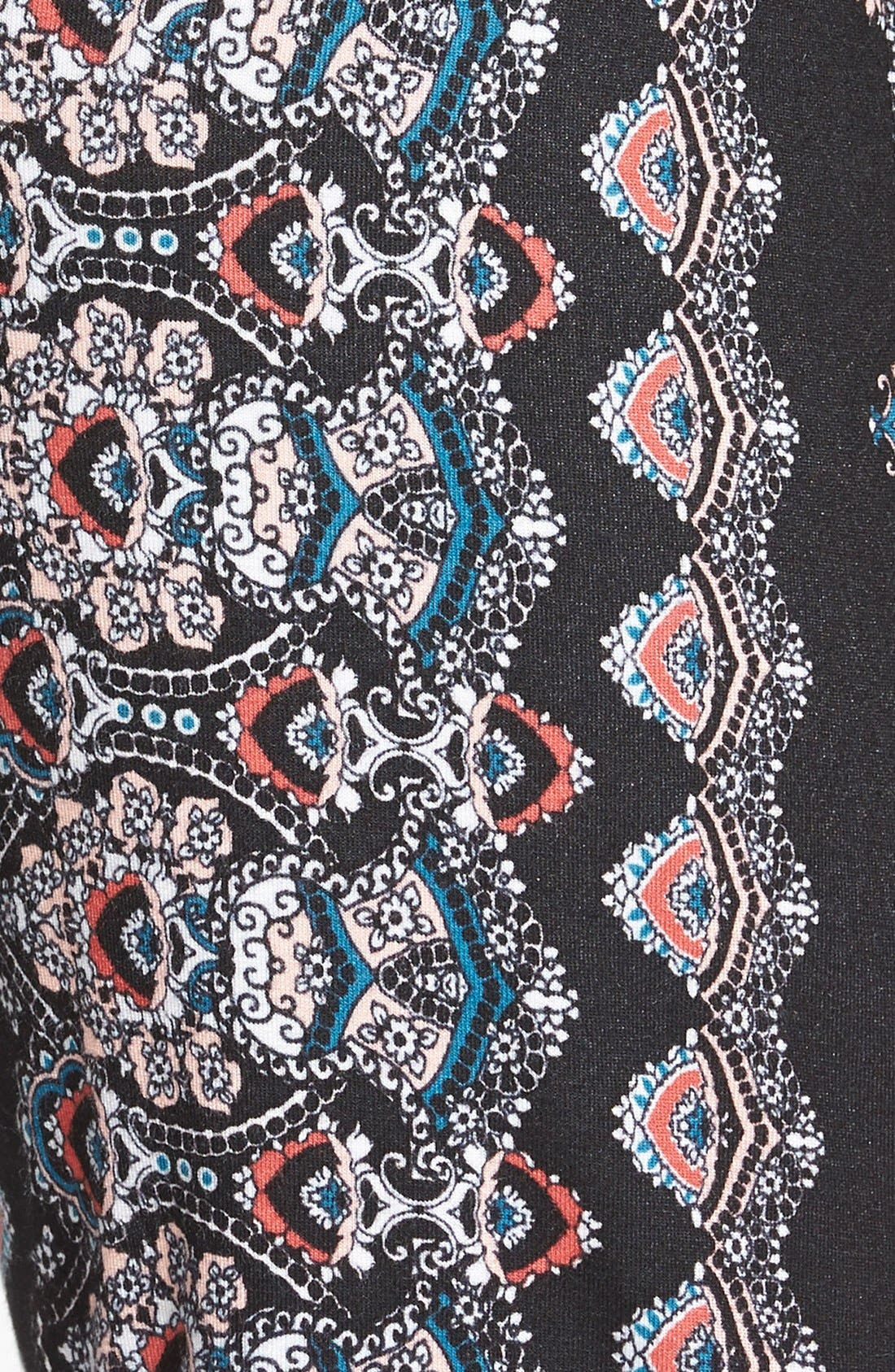 ,                             Mixed Print Flare Leg Pants,                             Alternate thumbnail 14, color,                             006