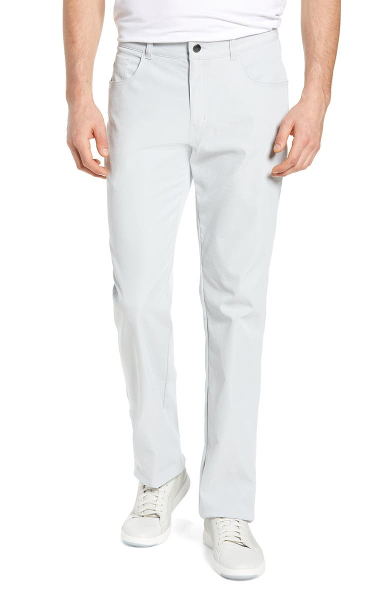 PETER MILLAR Five-Pocket Performance Pants, Main, color, BRITISH GREY