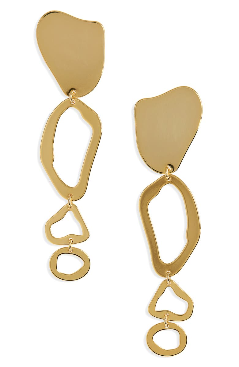 CULT GAIA Ziba Dangle Earrings, Main, color, GOLD