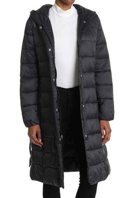 Image of Cole Haan Woven Nylon Puffer Coat