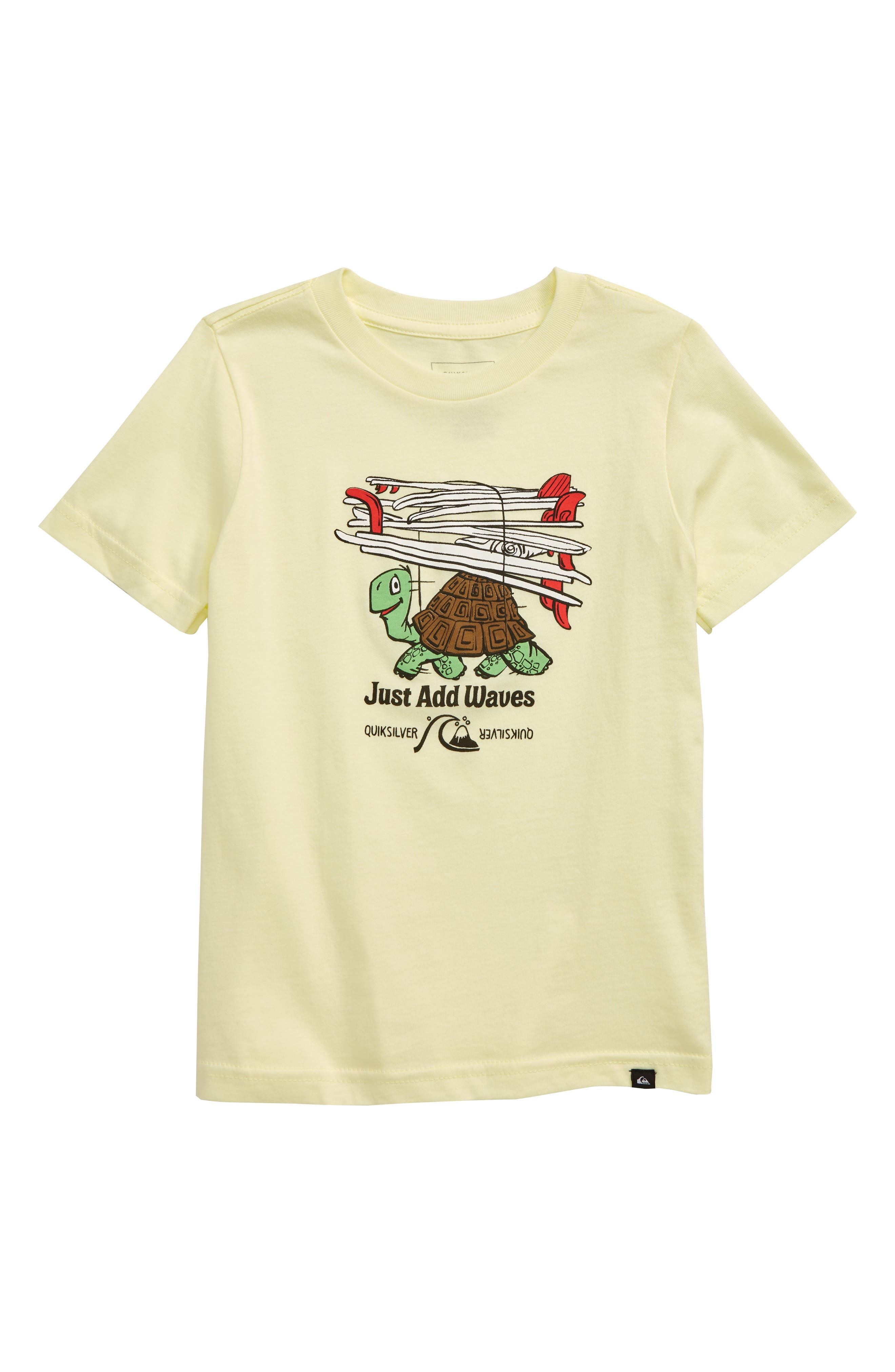 Toddler Boys Quiksilver Curious Adventures Graphic TShirt Size 2T  Yellow