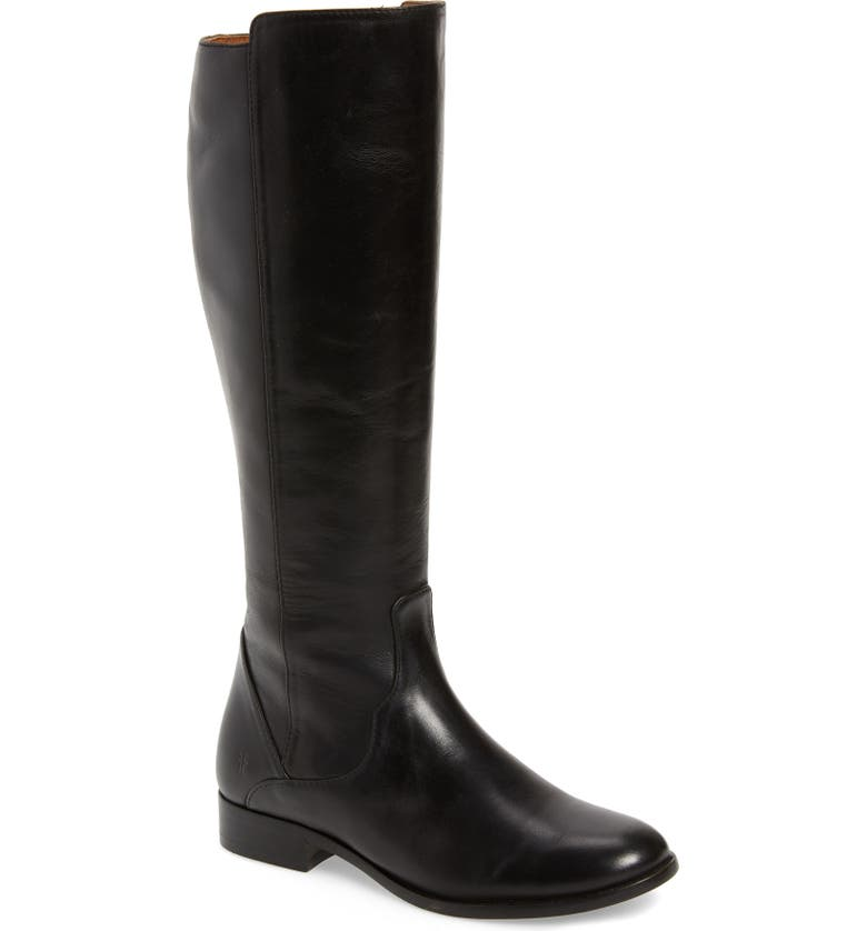 FRYE Carly Tall Boot, Main, color, BLACK