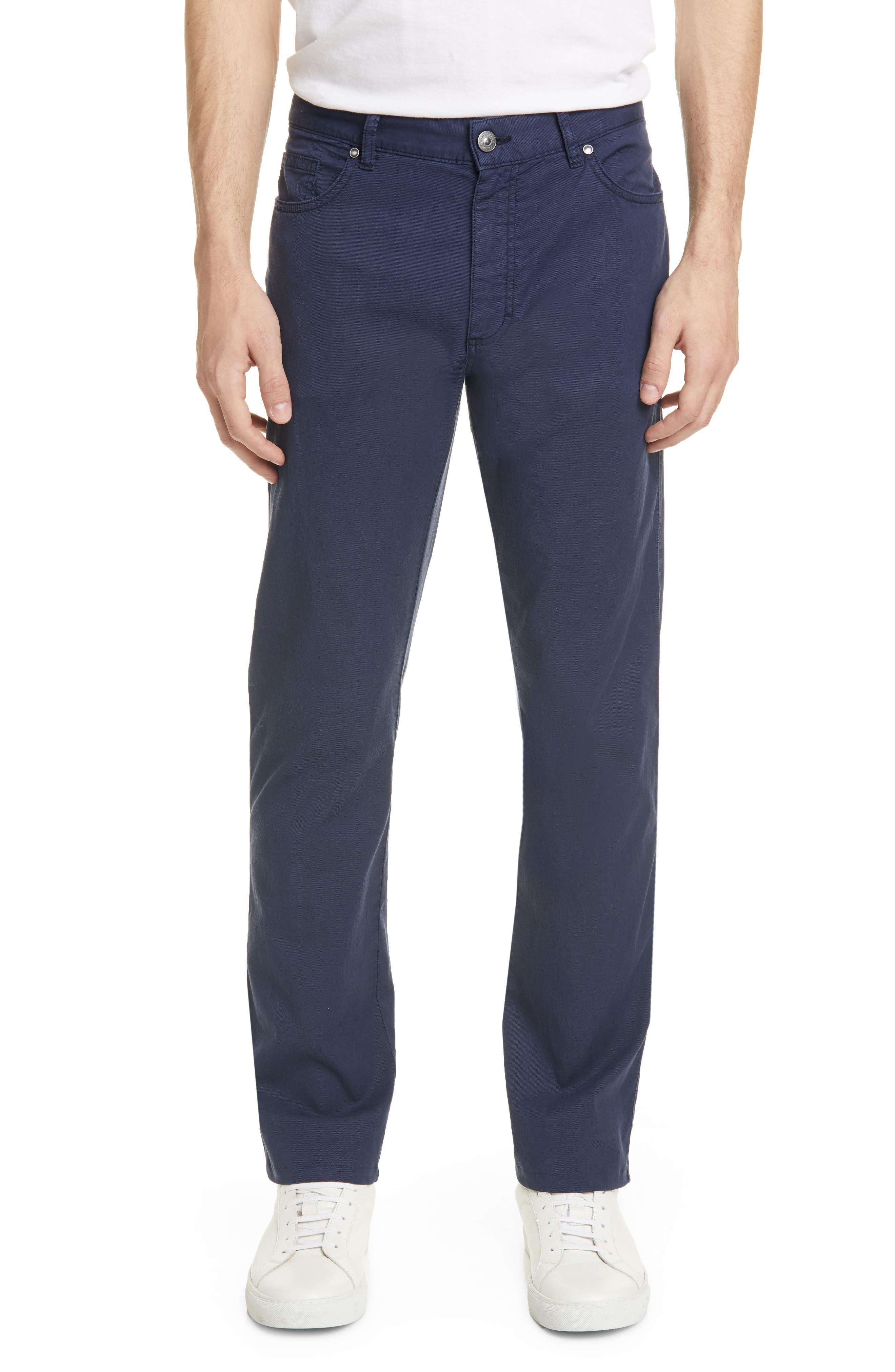 Men's Ermenegildo Zegna Classic Fit Stretch Jeans,  32R - Blue