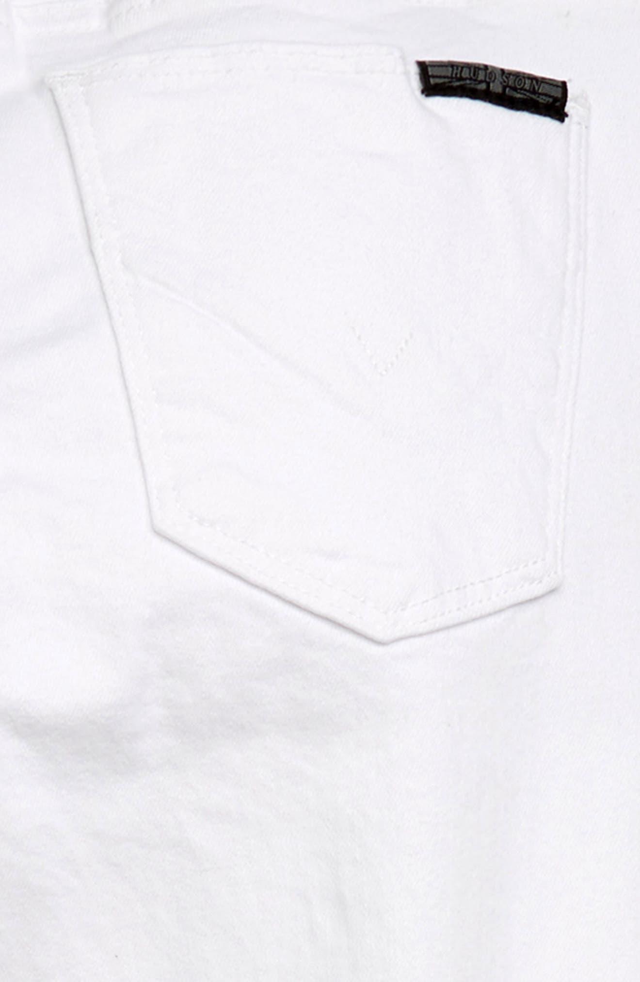 ,                             Hudson Girls 23 Notched Hem Skinny Jeans,                             Alternate thumbnail 3, color,                             VWW-VINTAGE WHITE WASH