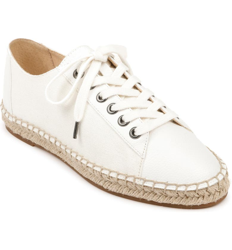 SPLENDID Alissa Espadrille Sneaker, Main, color, WHITE FABRIC