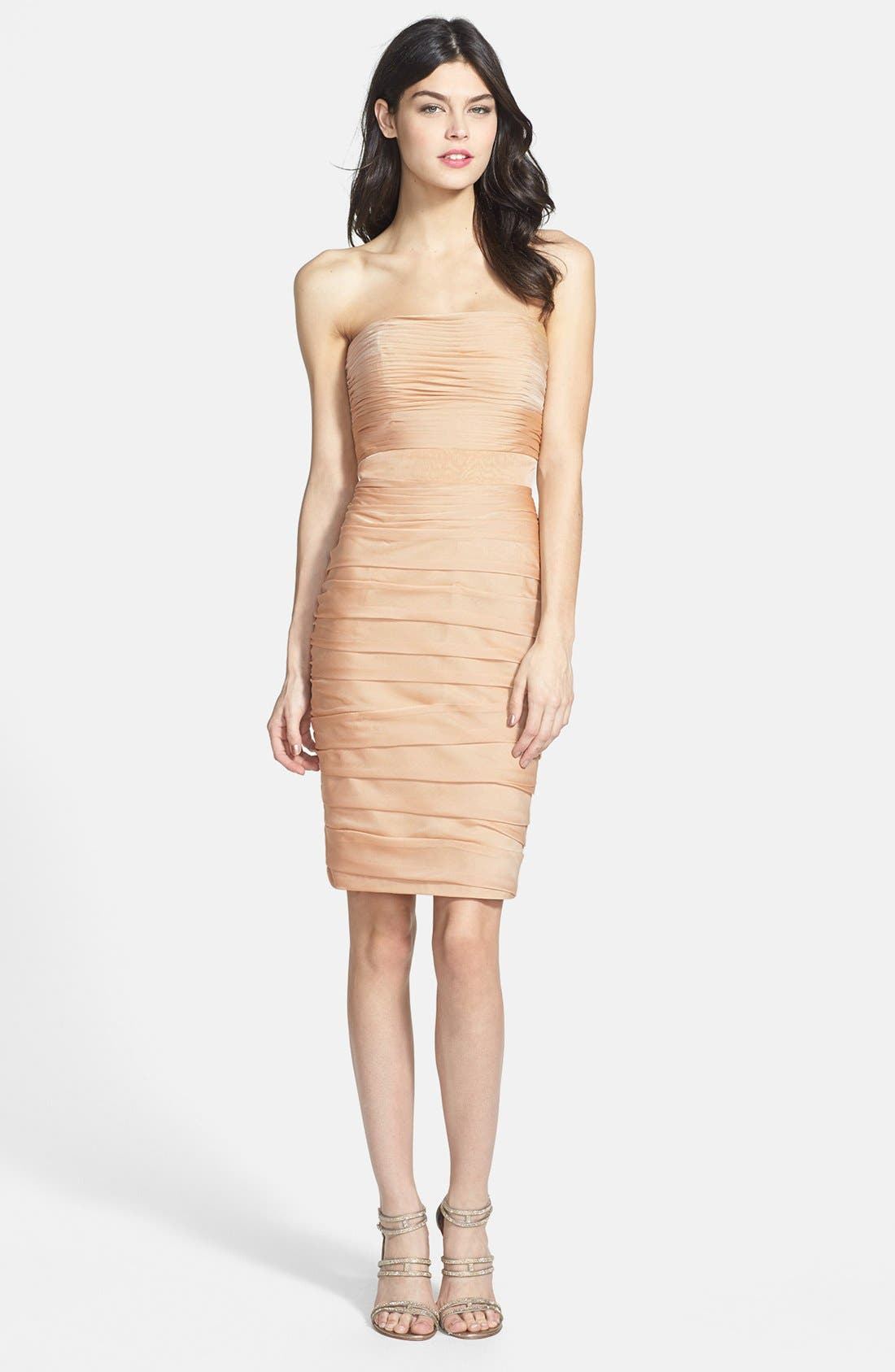 ,                             Ruched Strapless Cationic Chiffon Dress,                             Alternate thumbnail 24, color,                             289
