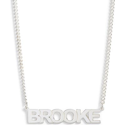 Jane Basch Designs Personalized Block Nameplate Necklace