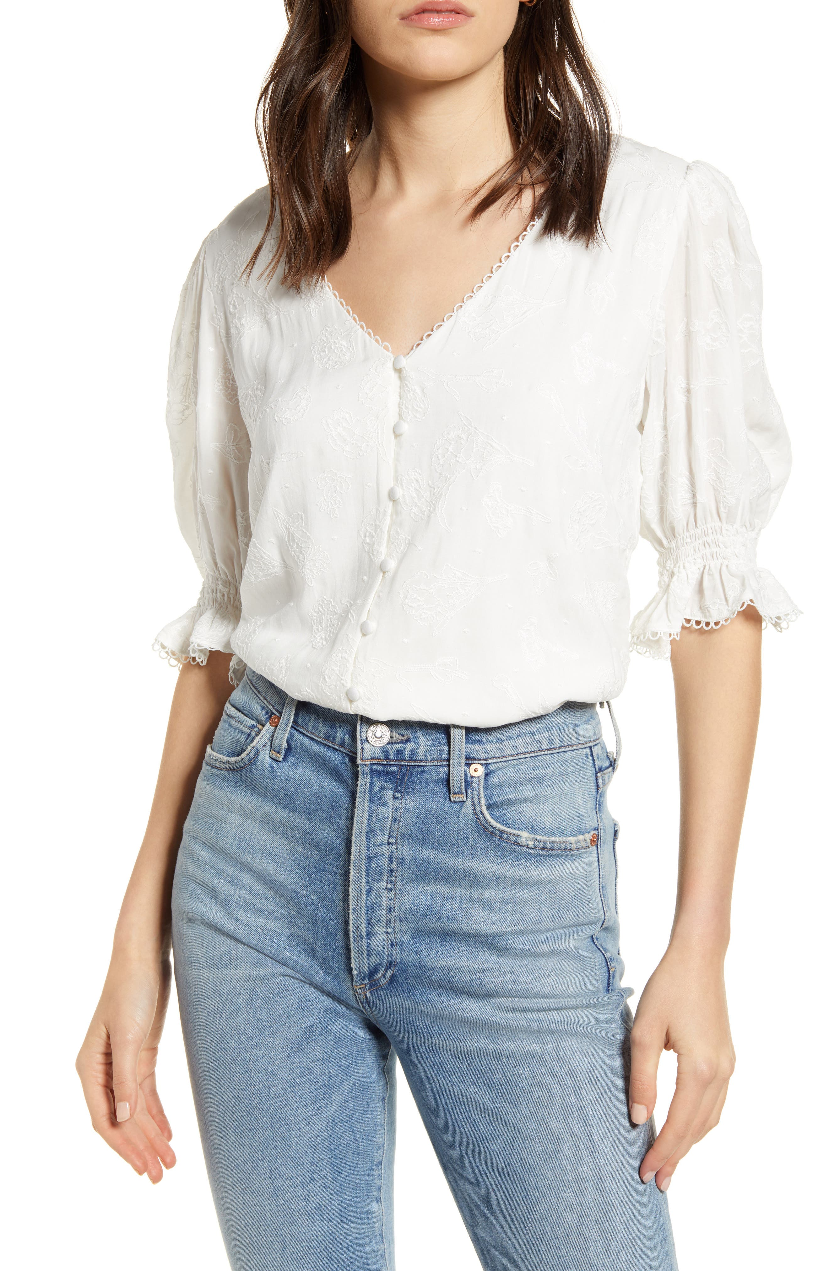 Image of: Cupcakes And Cashmere Floria Puff Sleeve Top Nordstrom