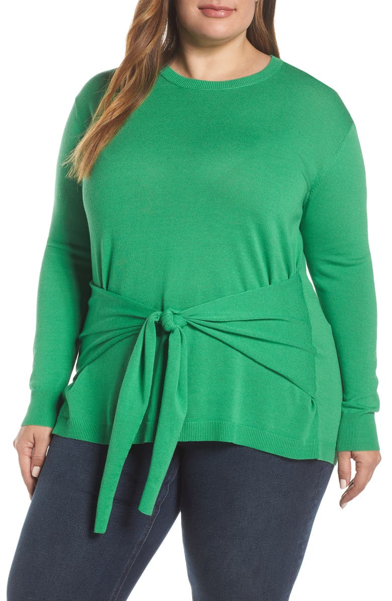 VINCE CAMUTO Tie Front Sweater, Main, color, 395