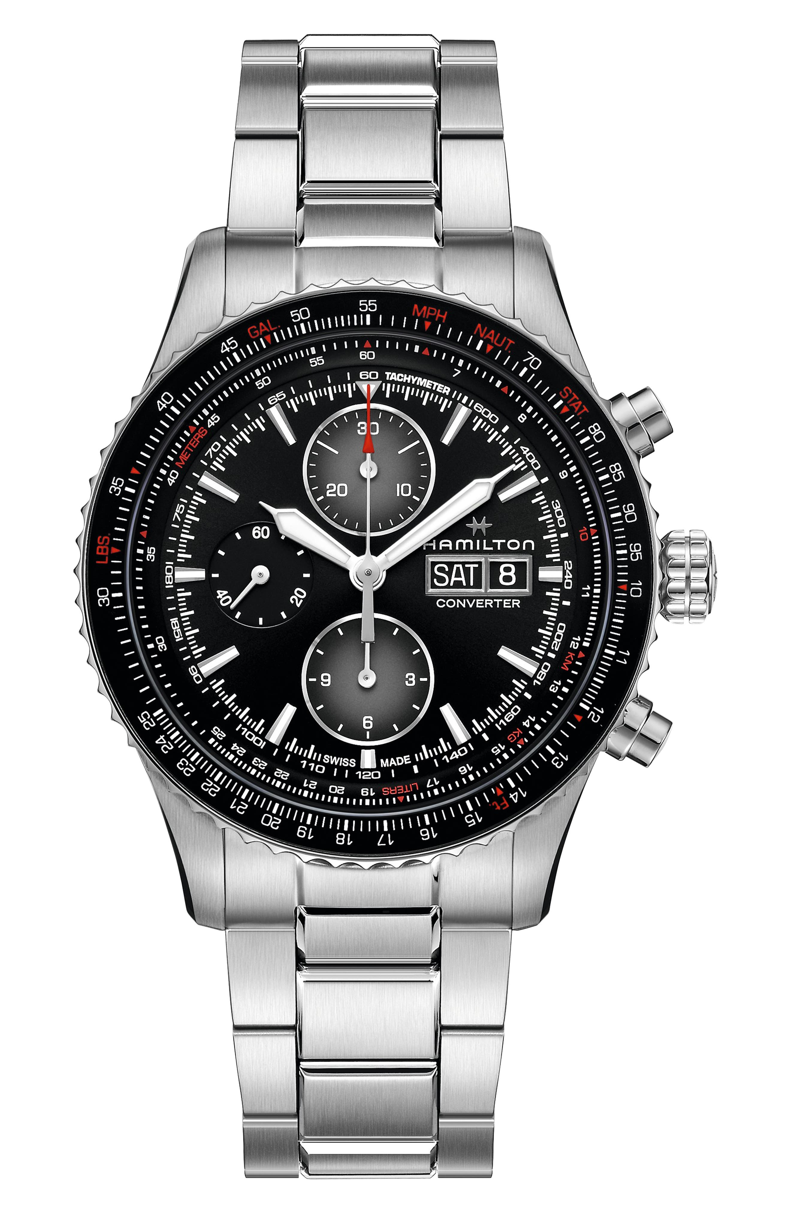 Khaki Aviation Converter Converter Chronograph Bracelet Watch