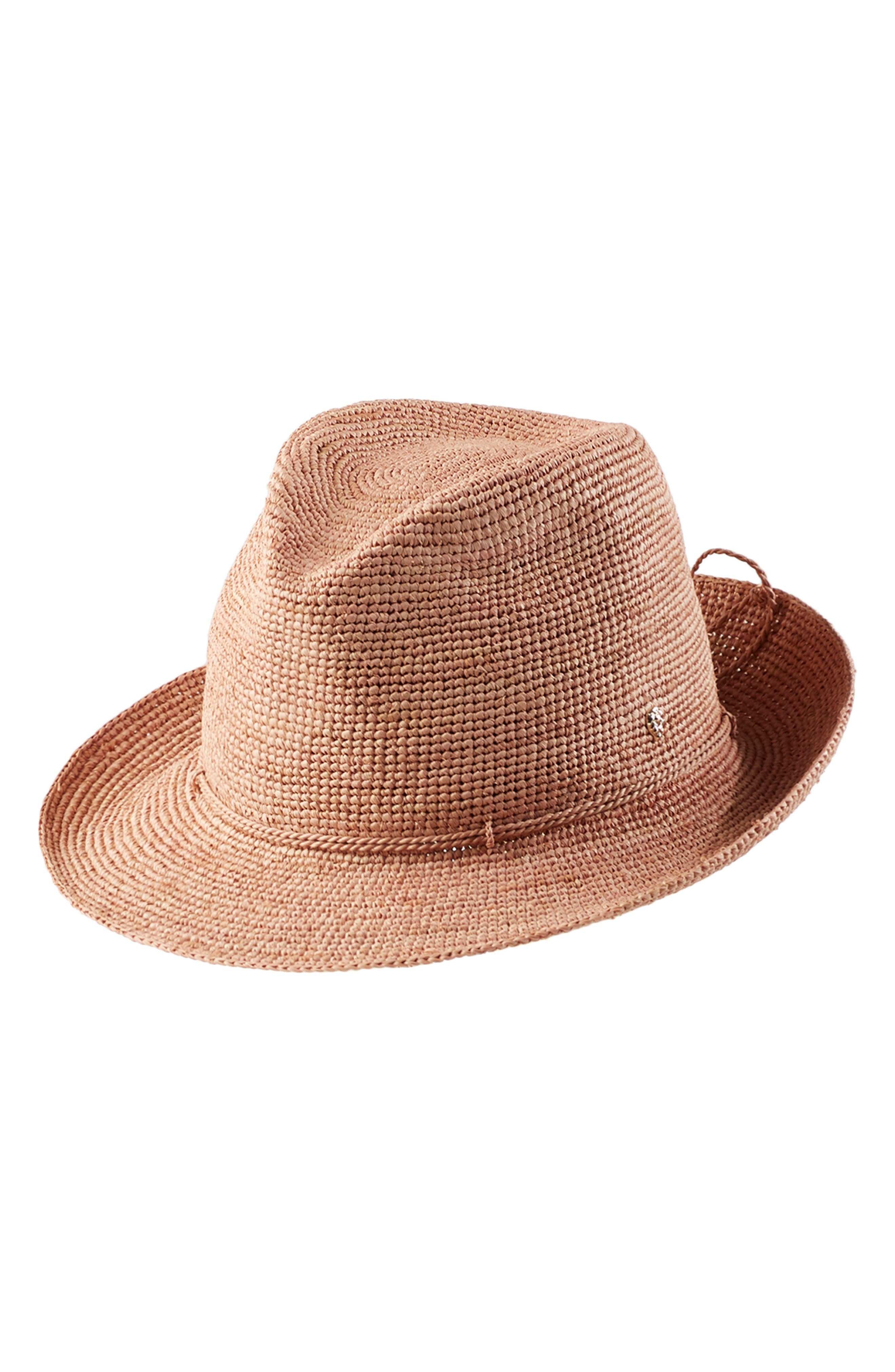 ,                             Raffia Crochet Packable Sun Hat,                             Main thumbnail 1, color,                             LIGHT MUSK