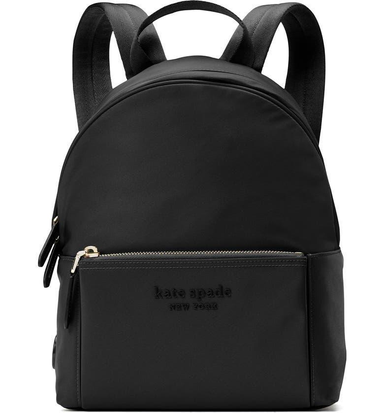 KATE SPADE NEW YORK medium the city nylon backpack, Main, color, BLACK