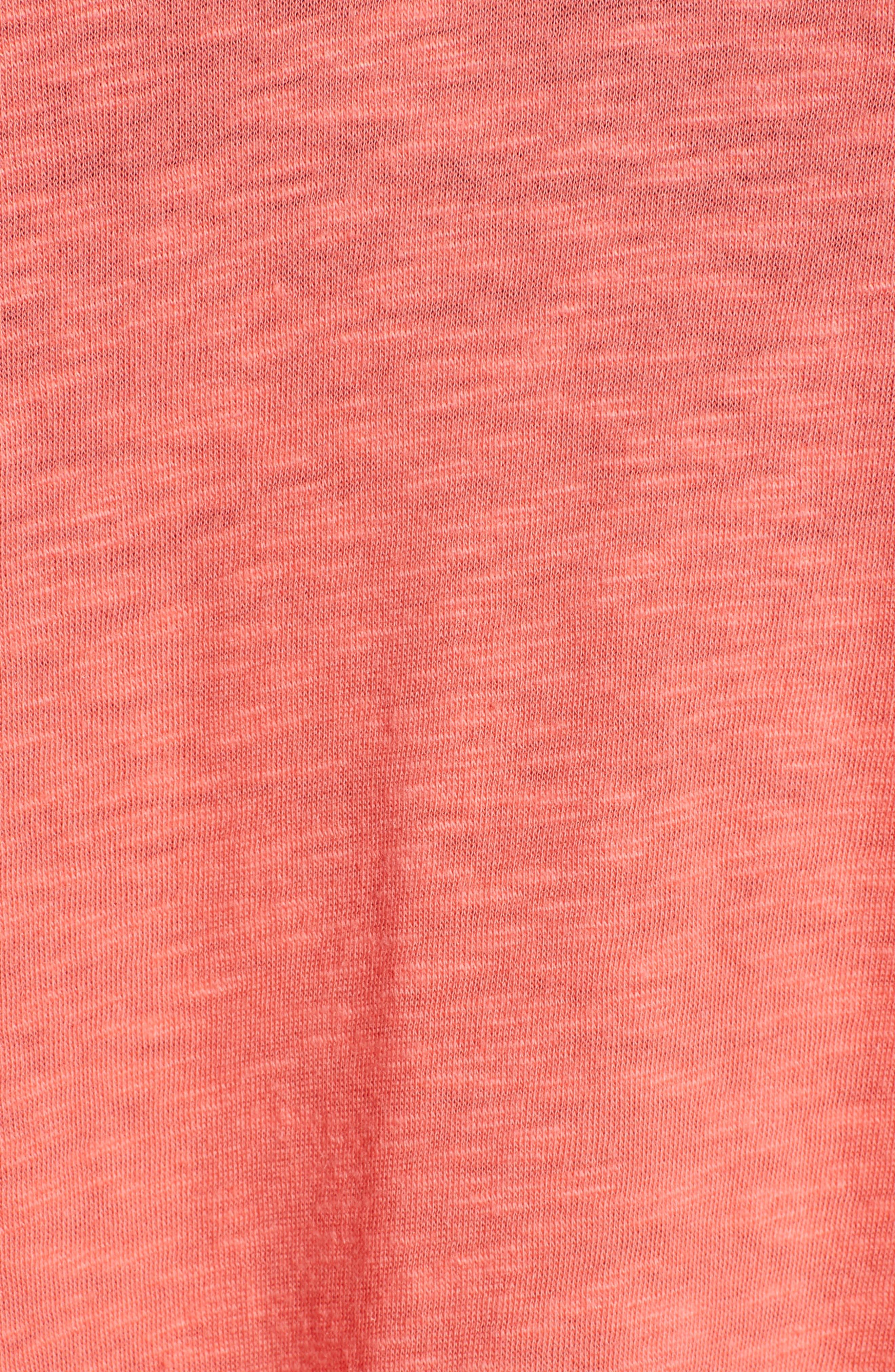 ,                             V-Neck Peplum Tee,                             Alternate thumbnail 5, color,                             958