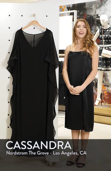 Cape Overlay Chiffon Gown, sales video thumbnail