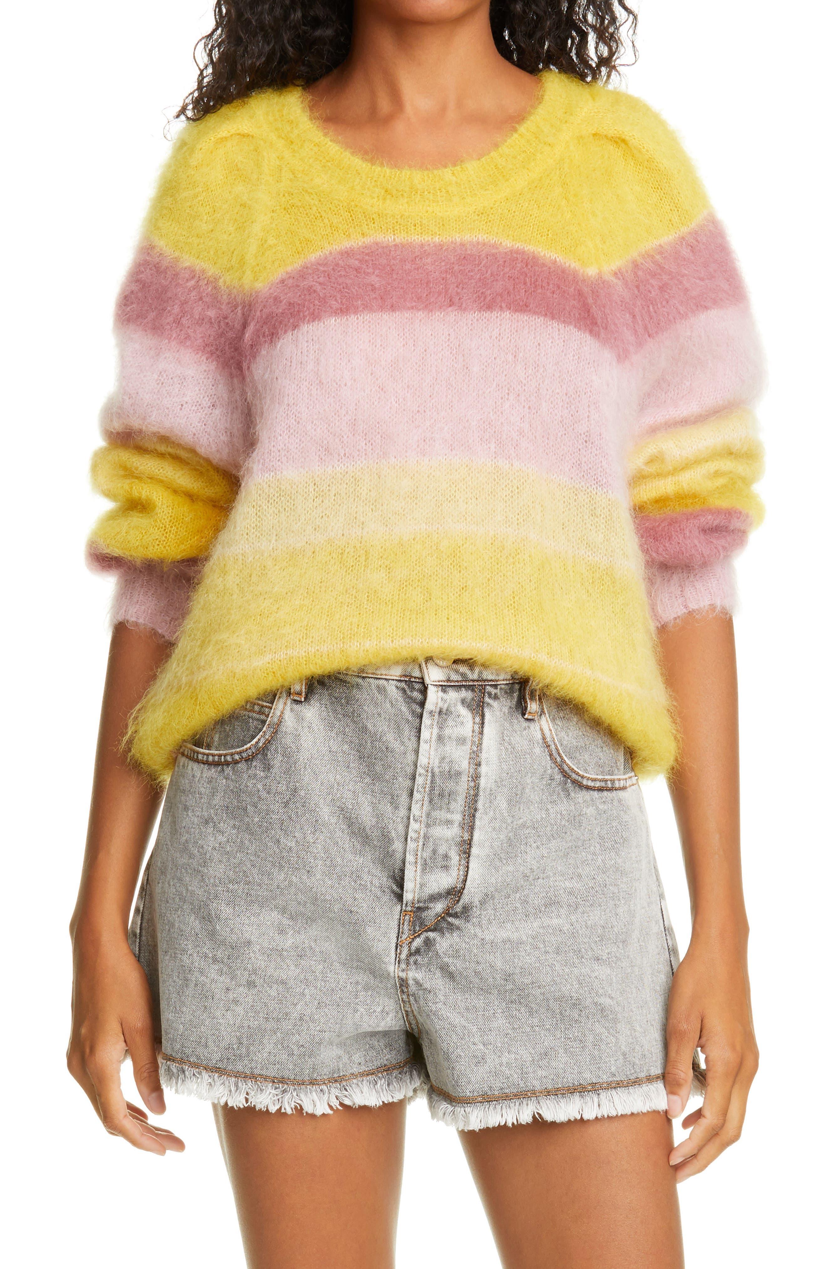 Women's Isabel Marant Etoile Daniel Stripe Mohair Blend Pullover