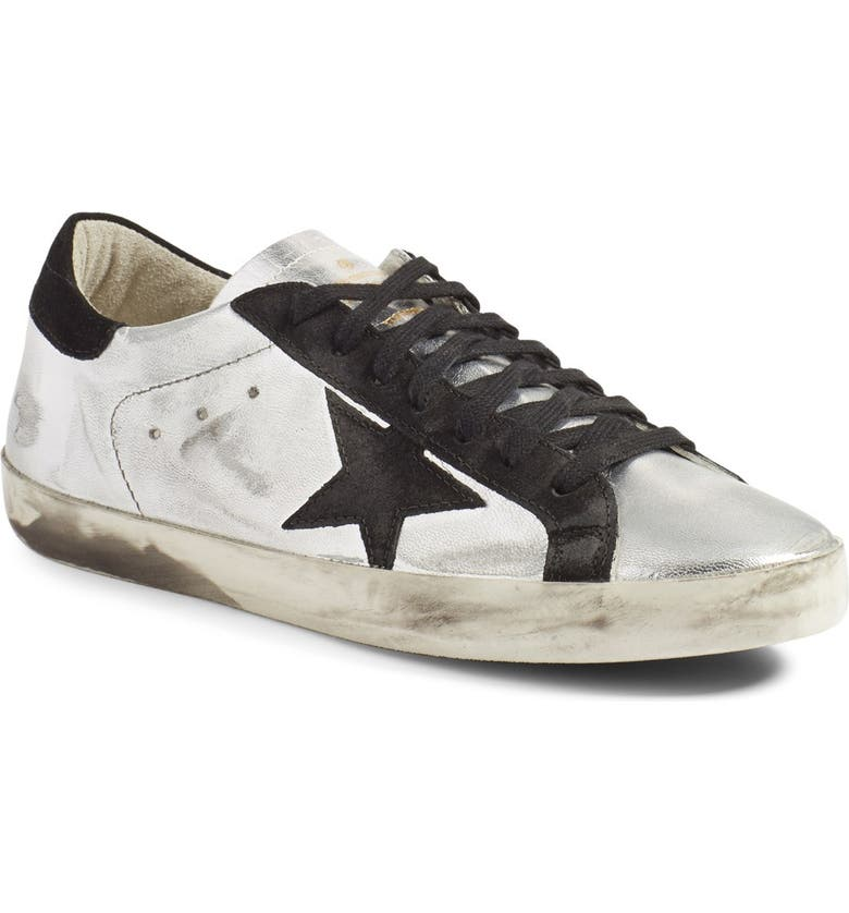 GOLDEN GOOSE Super Star Sneaker, Main, color, METALLIC SILVER LEATHER
