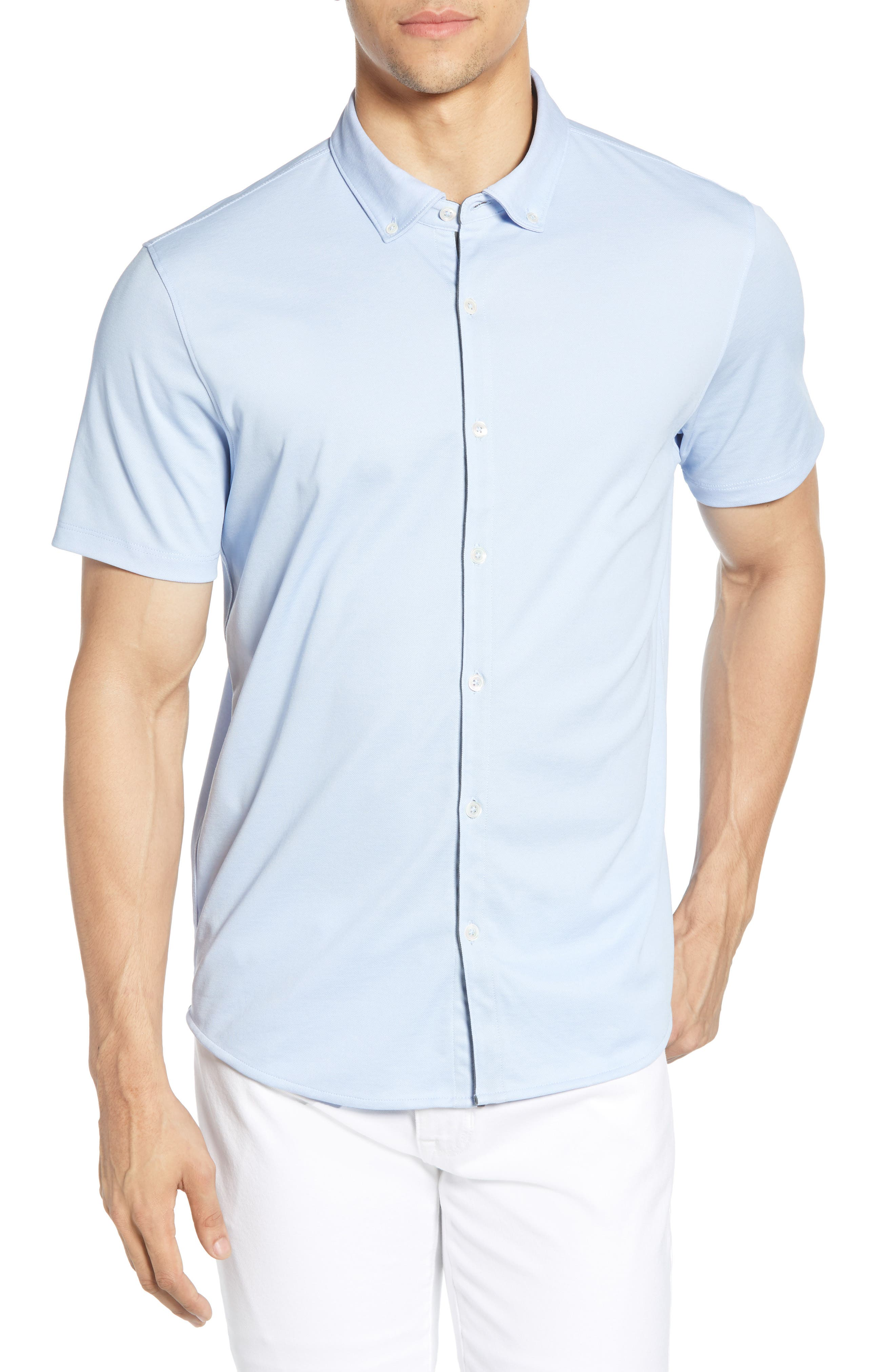 ,                             Caruth Regular Fit Short Sleeve Sport Shirt,                             Main thumbnail 30, color,                             450