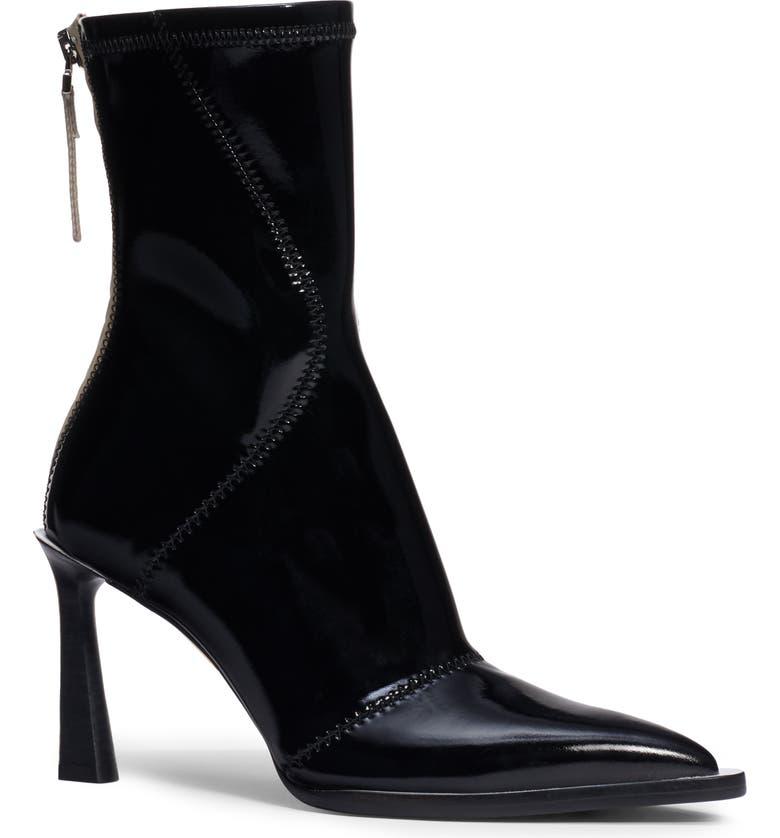 FENDI Tronchetto Pointed Toe Boot, Main, color, BLACK PATENT
