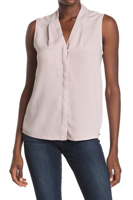 Image of FEMME BY DESIGN Button Front Sleeveless Crepe Top