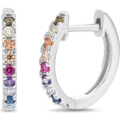 Lesa Michele Huggie Hoop Earrings