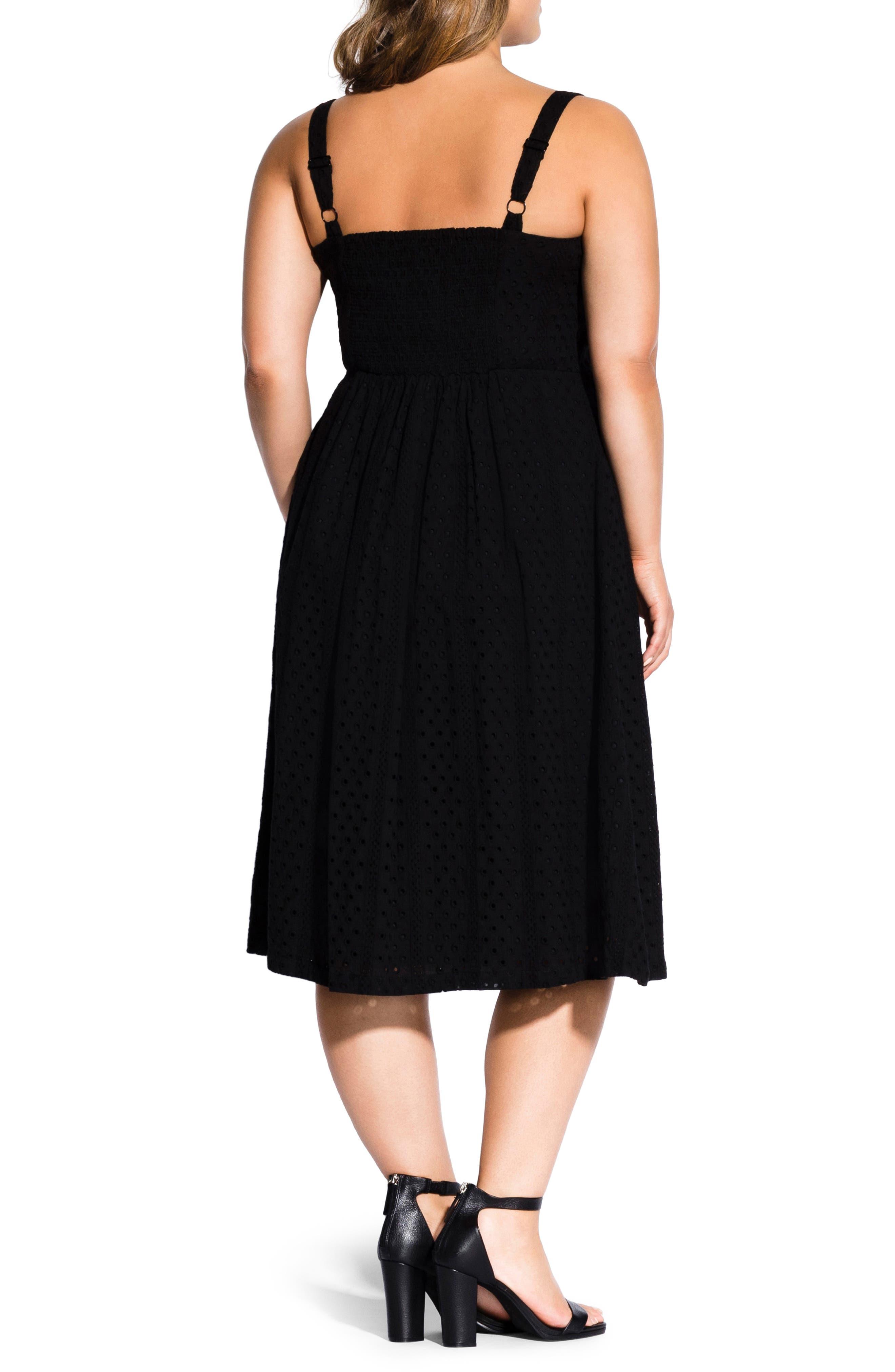 ,                             Eyelet Love Dress,                             Alternate thumbnail 2, color,                             BLACK