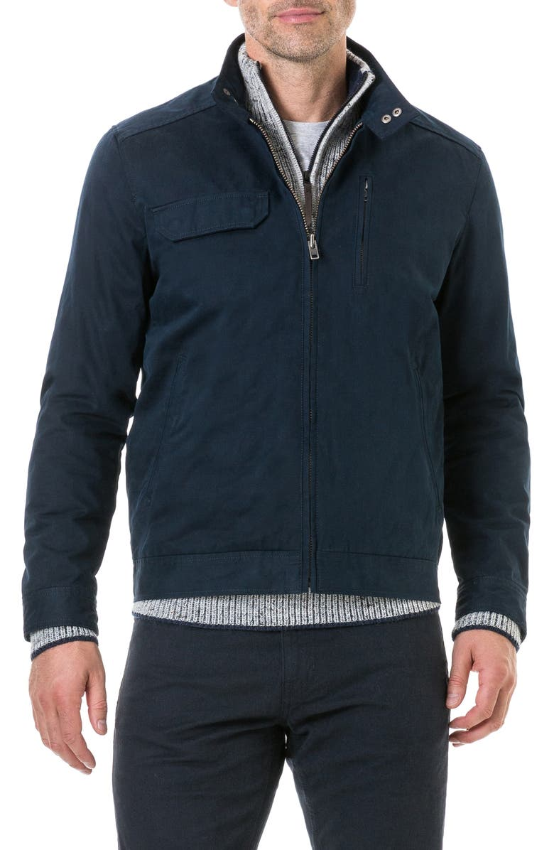 RODD & GUNN Holmwood Bomber Jacket, Main, color, MIDNIGHT
