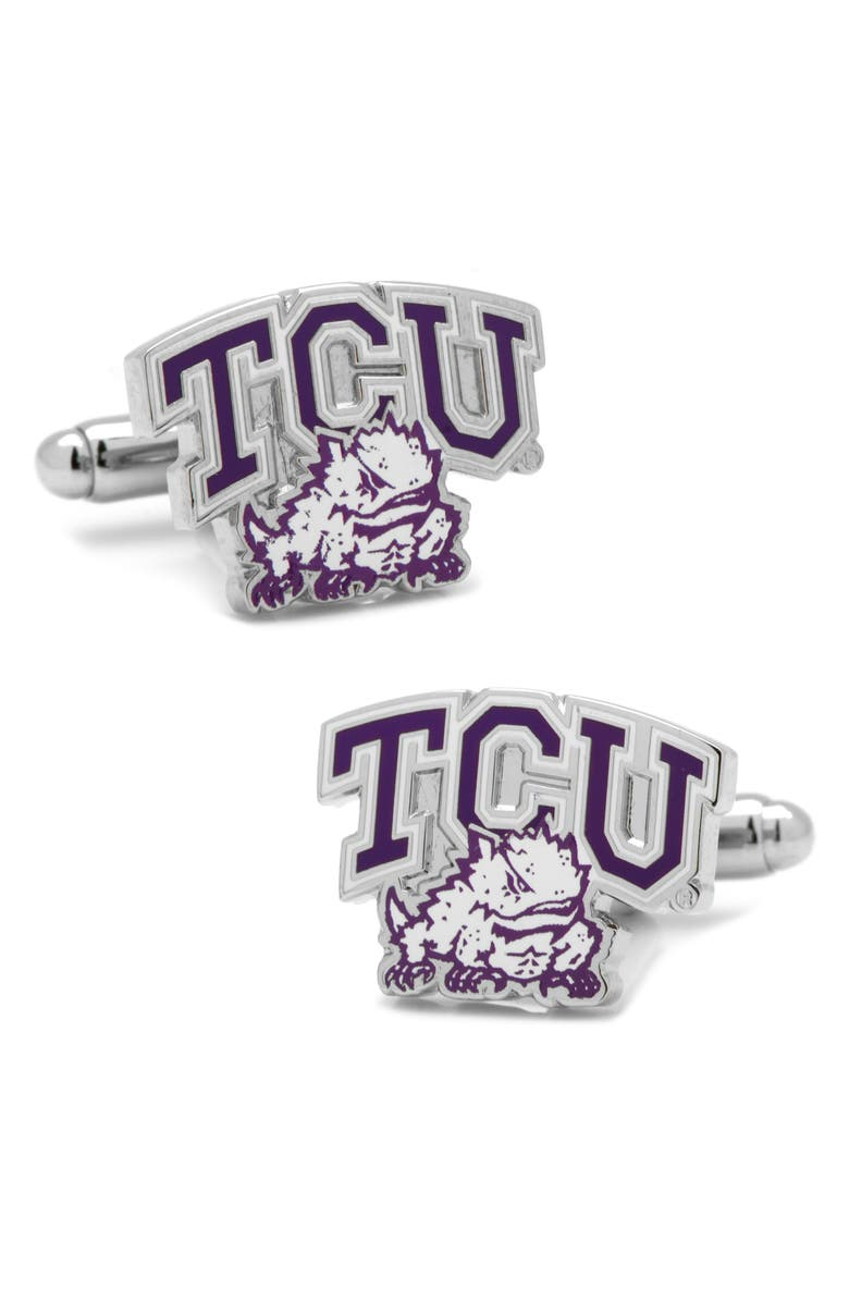 CUFFLINKS, INC. TCU Horned Frogs Cuff Links, Main, color, 500