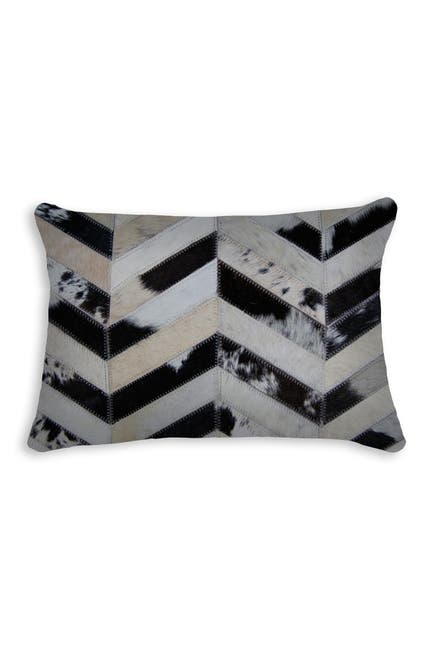 "Image of Natural Torino Chevron Genuine Cowhide Pillow - 12"" x 18"" - Tricolor"