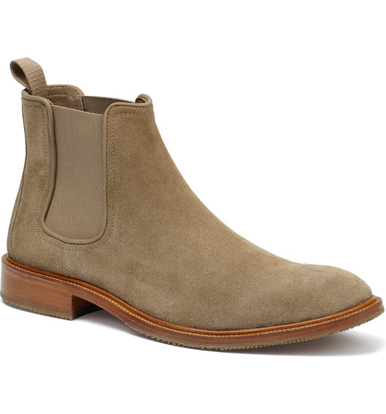 TRASK Leo Chelsea Boot, Main, color, TAUPE SUEDE