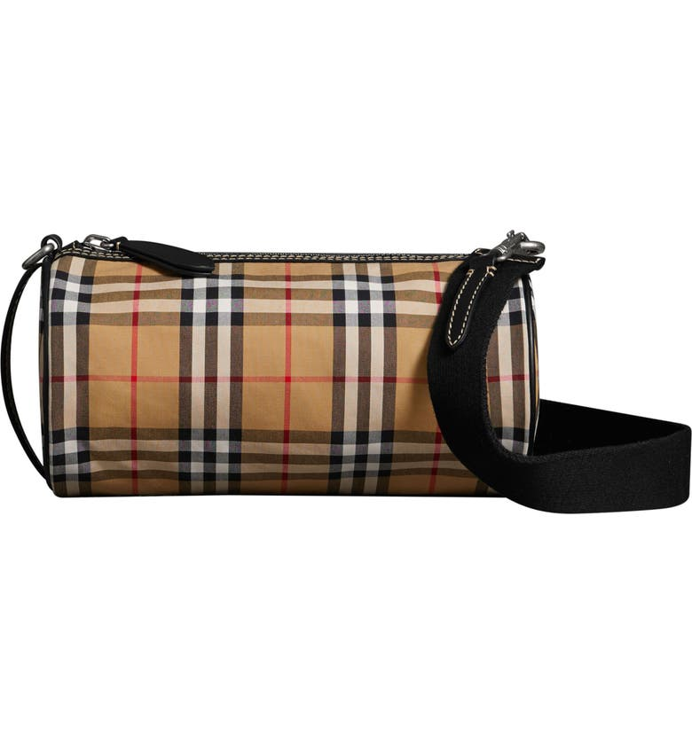 62bed2c971 Burberry Small Kennedy Vintage Check Canvas Duffel Bag   Nordstrom