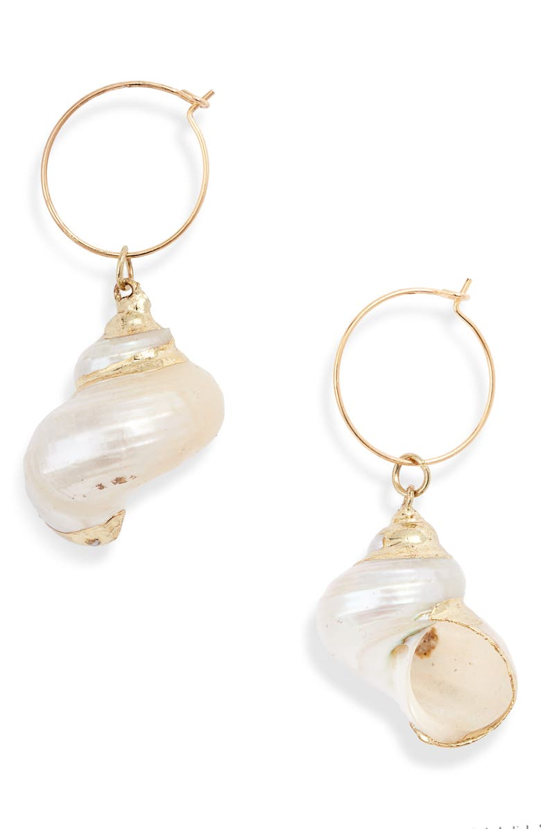 8 OTHER REASONS Chantel Mother-of-Pearl Drop Earrings, Main, color, GOLD