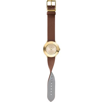 Ted Baker London Katyaa Reversible Leather Strap Watch,