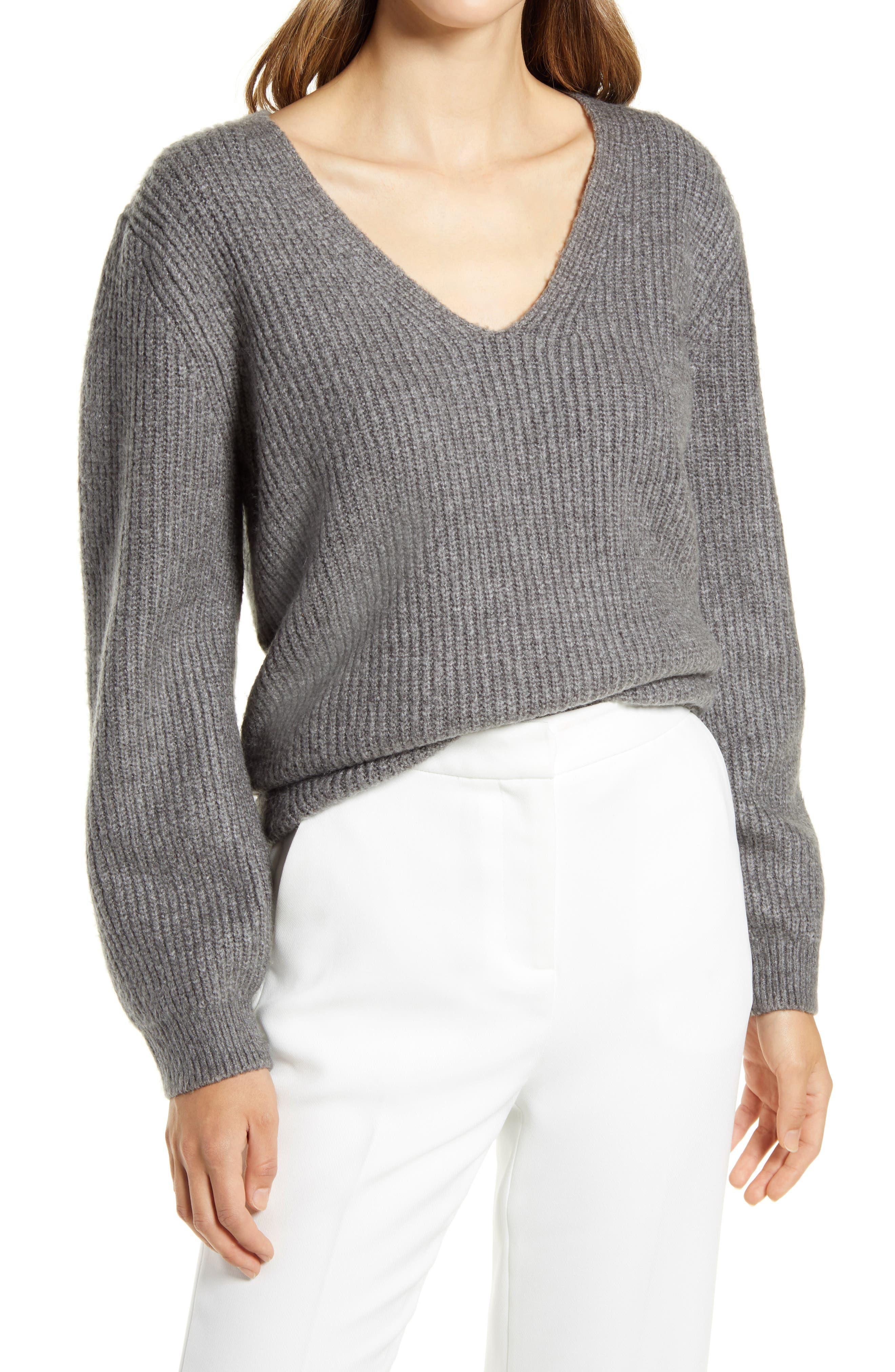 Women's Halogen Balloon Sleeve Sweater