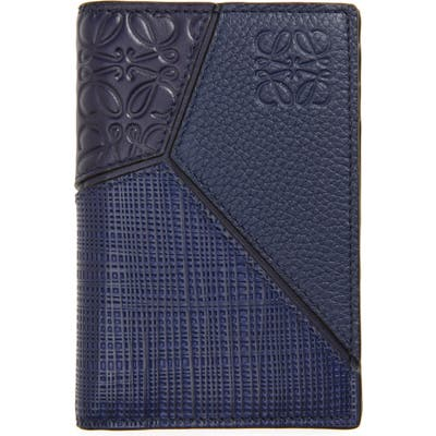 Loewe Puzzle Bifold Leather Wallet - Blue